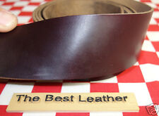 "HORWEEN CHROMEXCEL BURGUNDY #8 LEATHER HIDE 6 oz. 13""x20mm BELT STRAP 2nd QLTY"
