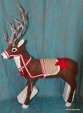 HEAVEN SENDS LARGE 19 INCHES FABRIC REINDEER CHRISTMAS DECORATION