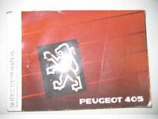 Betriebsanleitung PEUGEOT 405 Handbuch Bordbuch 1989