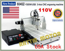 【US Stock】 MACH3 USB 6040 1500W 3 Axis CNC Router Milling&Engraving Machine 110V