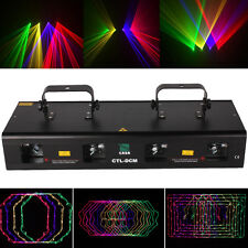 460mW RGPY Stage Effect Laser Lighting Disco Party DJ Club Light Show 4 Lens