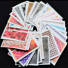 50PCS Mixed Flowers Pattern Stickers Water Transfer Nail Art Decals Decoration J