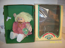 1984 Cabbage Patch Kids GIRL DOLL BLOND HAIR BLUE EYES IN BOX & PACIFIER
