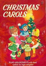 A Golden Book CHRISTMAS CAROLS ~ Piano arrangment + organ & guitar ~ RARE