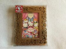 Hello Kitty Gold 40th Anniversary Wood Scroll Picture Frame Lovely