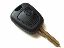 Peugeot Boxer Expert Partner 2 Button Remote Key Fob + Blank Key Blade