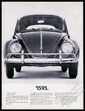 1961 VW Volkswagen Beetle classic car photo $1595 vintage print ad