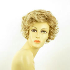 short wig women light blond curly blond copper wick clear ref: juliette 27t613