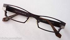 ICU Metallgestell eckig schmal Brillenfassung GR:M silber-schwarz breiter Bügel