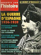 Enquête sur l'histoire N° 16 - LA GUERRE D'ESPAGNE 1936-1939