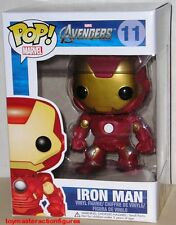 FUNKO POP Marvel AVENGERS IRON MAN #11 Vinyl Figure Box BOBBLE HEAD IN STOCK