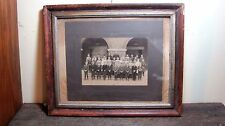 VINTAGE WOODEN PICTURE FRAME W JASPER INDIANA ANTIQUE SCHOOL PHOTO INCLUDED