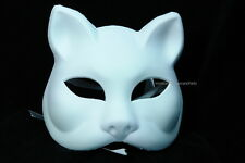 Black Cat Masquerade mask graduation birthday costume animal white cat mask