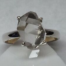 Natural Herkimer Diamond 925 Solid Sterling Silver Solitaire Marquise Ring sz 7