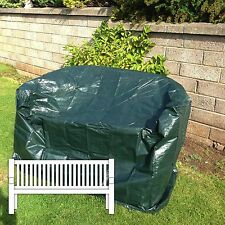 2 SEATER BENCH COVER GREEN POLYETHYLENE 134 x 66 x 86cm GARDEN SEAT PROTECTION