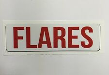 "Safety Decal Boat Marine ""Flares"""