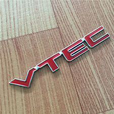 1 Pc Metal Red Letter VTEC Car Sticker Auto Fender Decal Emblem Universal