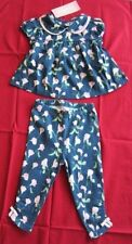 NWT Gymboree Infant Baby Girls 2 pc Tops Pants Outfit Set Sz:6-12 Mo