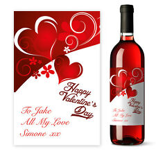 Personalised red Valentine's Day Husband Wine label gift