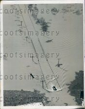 1936 Aerial Flooded US Route 52 Portsmouth Ohio Press Photo