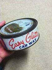 1950's EASY GLITTER Auto Car Hot Rod Wax Cans FULL VINTAGE Transportation