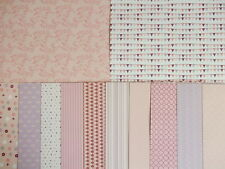 "12 sheets 8x8"" scrapbook Backing Papers Dovecraft Back to Basics Pretty in Pink"