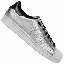 ADIDAS Originals Superstar Ii Sneaker Scarpe SPACE ARGENTO METALLIZZATO UK 9 43 1/3