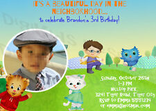 Daniel Tiger Personalized Birthday Party Invitations and Thank You Card DIY
