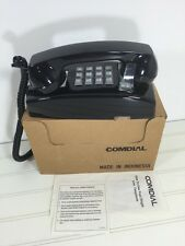 Vintage Comdial Wall Mount Phone Black 1993 New.