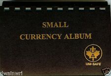 "Unisafe Currency Album - for Small Bills 3½""x6"""