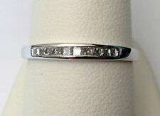 0.20ct 10k White Gold Princess Cut Diamonds Channel Set Wedding Anniversary Band