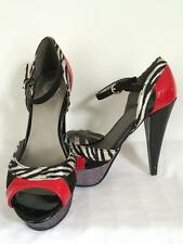 G by Guess women's red black zebra print sparkly women's high heels size 6.5M