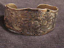 Vintage Montana Silversmiths Wide Cuff w/ Montana Classical Design Made in the U