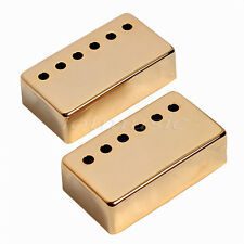 2 Pcs Metal Guitar Humbucker Pickup Covers For Gibson Guitar Replacement Gold