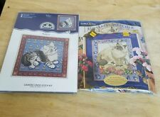 2 DMC Cat Cross Stitch Kits Butterfly Watcher & Kitten New