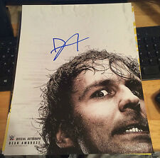 WWE DEAN AMBROSE THE LUNATIC FRINGE NXT HAND SIGNED POSTER PHOTO WRESTLING WWF