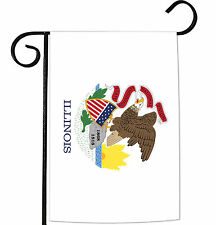 NEW Toland - Illinois State Flag - Patriotic USA Garden Flag