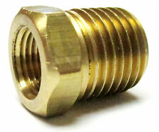 "1/4"" Male x 1/8"" Female NPT Brass Pipe Hex Bushing Reducer Fitting"