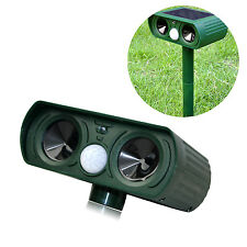 Ultrasonic Solar Power Pest Animal Repeller Repellent Garden bird Cat Dog Fox ET