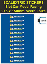 Scalextric Slot car sticker Model Race MICHELIN Logo Lego decal adhesive vinyl T