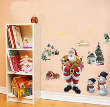 Santa Snowman Tree Christmas Xmas Removable Wall Window Sticker Home Decor Decal