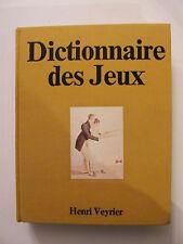 Dictionnaire des Jeux Henri Veyrier P
