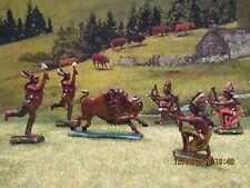 Lot de figurines en plomb des indiens à la chasse au bison CBG ??