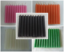 "WHOLESALE LOT 50 MINI 4"" CHIME SPELL CANDLES - BLACK WHITE PINK ORANGE GREEN"