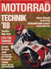 M8802 + Test YAMAHA FZR 750 R + BMW R 100 RS - Jeaniel-Gespann + MOTORRAD 2 1988