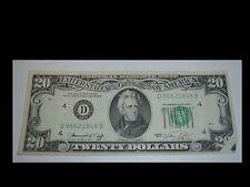 Rare Unc preprint fold over Edge Error $20 Dollar 1974 Series Bill Note Currency