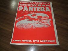 PANTERA + CROWBAR 1994 SHOW POSTER LITHO SANTA MONICA CIVIC RARE METAL DIME BAG