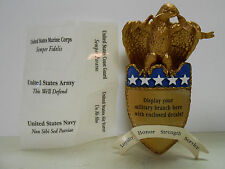 """HALLMARK """"ON WINGS OF COURAGE"""" EAGLE MILITARY 2008 CHRISTMAS ORNAMENT NEW"""