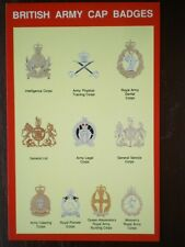 POSTCARD BRITISH ARMY CAP BADGES 4 OF 9