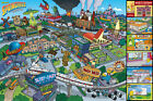 THE SIMPSONS LOCATIONS MAP 91.5 X 61CM POSTER NEW OFFICIAL MERCHANDISE
